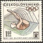 Sellos del Mundo : Europa : Checoslovaquia : olimpiadas en munich, natacion