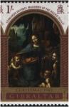 Stamps : Europe : Gibraltar :  Madonna della Pietra, de Leonardo