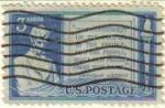 Sellos de America - Estados Unidos -  USA 1948 Scott 978 Sello 85 Aniversario Abraham Lincoln Direccion en Gettysburg usado Estados Unidos