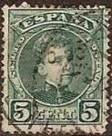 Stamps Spain -  ESPAÑA 1901-5 242 Sello Alfonso XIII 5c. Tipo Cadete Usado