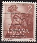 Sellos de Europa - España -  ESPAÑA 1954 1140 Sello Año Mariano Ntra. Sra. de Africa Ceuta 2p Usado
