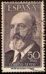 Stamps Spain -  ESPAÑA 1955 1165 Sello Leonardo Torres Quevedo 50pts Usado