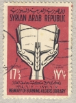 Stamps Asia - Syria -  Memory of burning Algiers library
