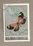 Sellos del Mundo : Asia : Omán : Mariposa Heliconius melpomene