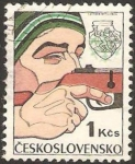 Sellos de Europa - Checoslovaquia -  tiro con escopeta