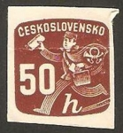 Stamps : Europe : Czechoslovakia :  33 - Cartero