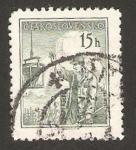 Sellos de Europa - Checoslovaquia -  trabajador