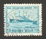 Stamps : Europe : Belgium :  Barco Príncipe Balduino