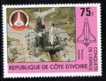 Stamps Ivory Coast -  1981 Conquista del Espacio: Enterprise rampa lanzamiento