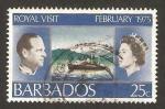 Sellos del Mundo : America : Barbados : visita de los reyes de inglaterra