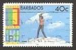 Sellos del Mundo : America : Barbados : expo 2000, golfista