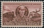 Sellos del Mundo : America : Estados_Unidos :  En honor a los mecánicos del ferrocarril
