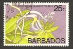 Sellos del Mundo : America : Barbados : flora, epidendrum ciliare
