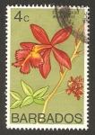 Sellos del Mundo : America : Barbados : flora, epidendrum ibaguense