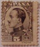 Sellos de Europa - España -  Alfonso XIII Típo Vaquer de perfil (491)
