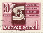 Stamps of the world : Hungary :  50 ÉVES A NEMZETKOSI