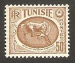 Stamps of the world : Tunisia :  museo de cartago, caballo