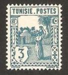 Stamps Africa - Tunisia -  mujer llevando cantaro