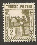 Stamps : Africa : Tunisia :  mujer llevando cantaro