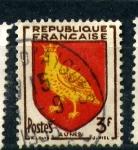 Sellos de Europa - Francia -  aunis