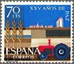 Sellos de Europa - España -  España 1964 1580 Sello * XXV Años de Paz Española Agricultura c/trazas oxido Timbre Espagne Spain Sp