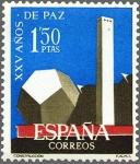 Sellos de Europa - España -  España 1964 1583 Sello * XXV Años de Paz Española Construcción c/trazas oxido Timbre Espagne Spain S