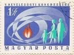 Sellos de Europa - Hungría -  V NEVELESUGYI KONGRESSZUS