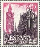 Stamps Spain -  ESPAÑA 1965 1647 Sello Nuevo Serie Turistica Catedral de Sevilla