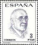 Sellos de Europa - España -  ESPAÑA 1966 1759 Sello Nuevo Literatos Españoles Arniches c/señal charnela