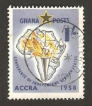 Sellos del Mundo : Africa : Ghana : conferencia de independencia de los estados africanos
