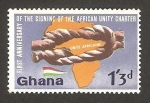 Stamps Ghana -  anivº de la unidad africana