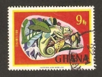 Stamps : Africa : Ghana :  fauna, camaleon