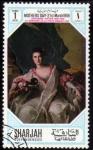 Stamps United Arab Emirates -  Sharjah 1968: Dia de la Madre - Jean Marc  Nattier