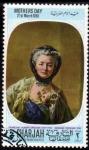 Stamps United Arab Emirates -  Sharjah 1968: Dia de la Madre - Francois H. Drouais