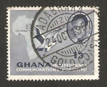 Sellos del Mundo : Africa : Ghana : commemoracion de la independencia