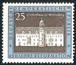Stamps Germany -  ALEMANIA: Monumentos conmmemorativos a Luther en Eisleben y Wittenberg
