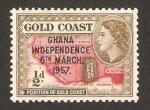 Stamps Africa - Ghana -  Situación de Ghana en el mapa