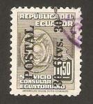Stamps : America : Ecuador :  servicio consular, impreso postal 30c.