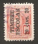 Stamps : America : Ecuador :  servicio consular, impreso timbre escolar 20c.