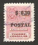 Sellos del Mundo : America : Ecuador : timbre consular, impreso postal 0,30
