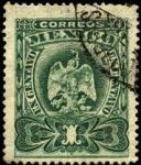 Stamps America - Mexico -  Águila mitológica con la serpiente.