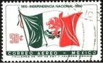 Stamps Mexico -  150 años de la independencia Nacional de México. 1810 - 1960.