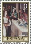 Stamps Spain -  ESPAÑA 1970 1967 Sello Nuevo Dia del Sello Luis de Morales El Divino La Presentacion c/s charnela
