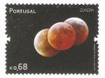 Sellos del Mundo : Europa : Portugal : astronomia, eclipse total