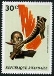 Stamps Africa - Rwanda -  Instrumentos Musicales Africanos