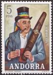 Sellos del Mundo : Europa : Andorra : Andorra 82 **.  Costumbres populares. EL cigarro