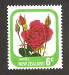 Sellos del Mundo : Oceania : Nueva_Zelanda : flora, cresset