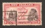Stamps : Oceania : New_Zealand :  Centº de Nueva Zelanda, capitán Cook