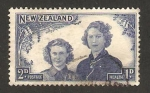 Stamps New Zealand -  princesas margaret y elizabeth