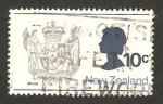 Stamps : Oceania : New_Zealand :  Elizabeth II, y escudo